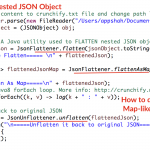 In Java How to Flatten or Unflatten Complex JSON objects into Flat