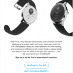 Email Case Study: New Product Release from Withings