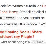 Floating Share Bar – How to add Floating Share Buttons without any WordPress Plugin?