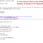 In Java How to find a Line with Maximum Number of Words? Using Stream.forEach() Iterator