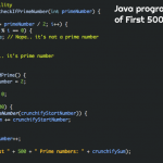 Java program to print Sum of First 500 Prime numbers (or First N Prime numbers)