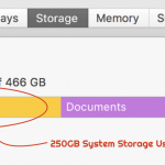 More than 250GB System Storage usage after upgrading to macOS X High Sierra?