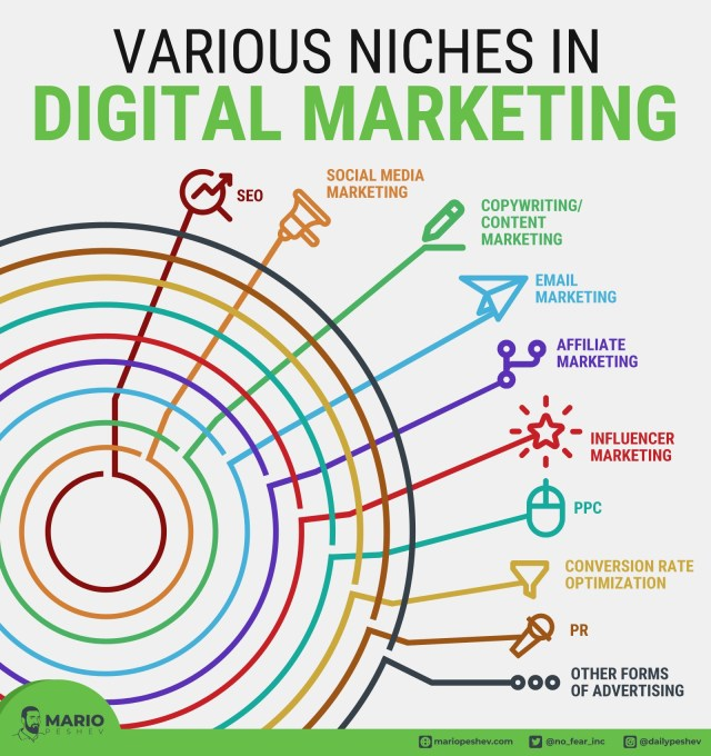 Various niches in digital marketing